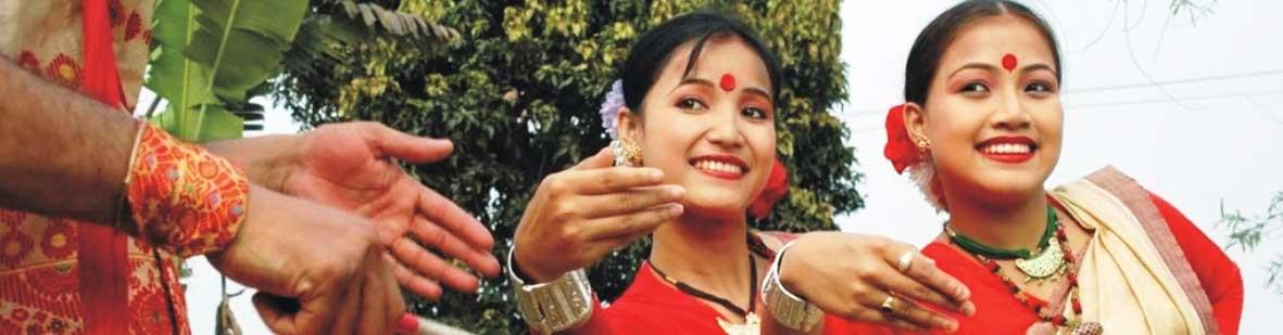 Dance during festival in Assam